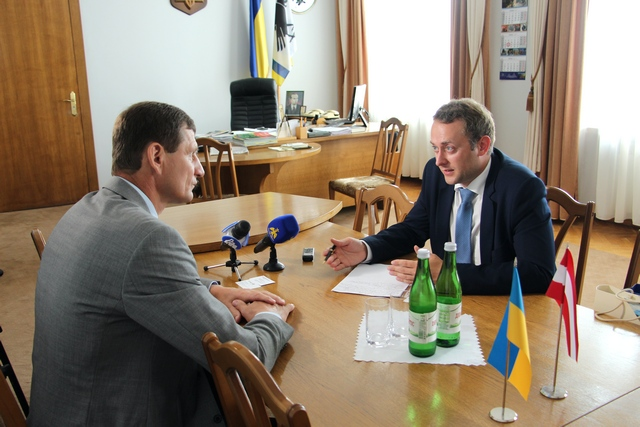 З головою обласної ради Олександром Сичем